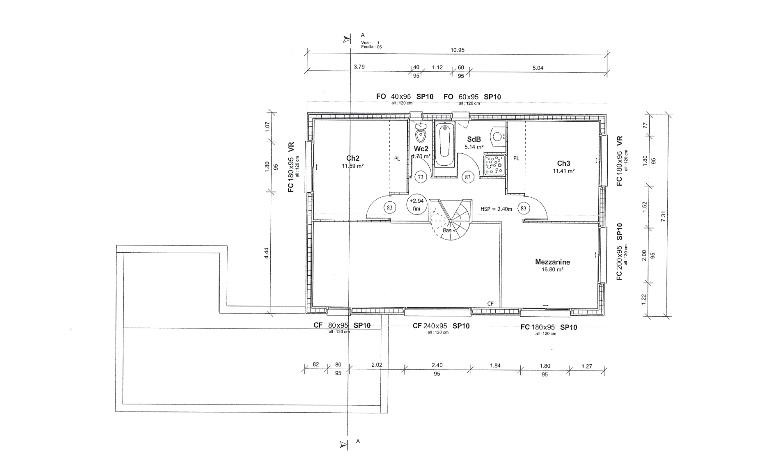plan maison ossature bois,haute garonne,midi pyrenees,maison bois,maison a ossature bois,maison ossature bois,