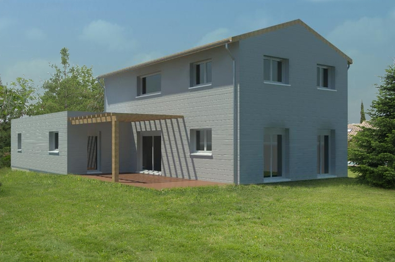 Plans et mod les de maison bois construction for Constructeur haute garonne