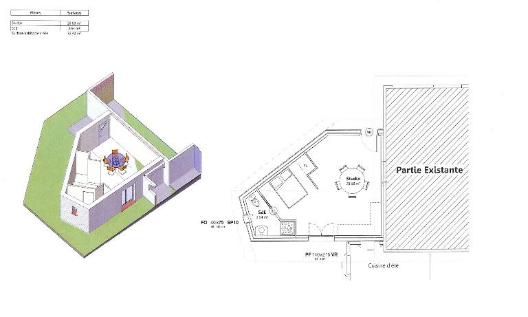 maison en bois toulouse,maison basse consommation toulouse,agrandissement en bois,agrandissement en ossature bois,plan maison bois