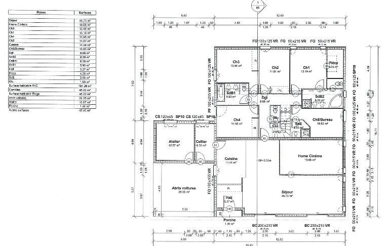 plan maison ossature bois haute garonne,midi pyrenees,maison bois,maison a ossature bois,constructeur maison bois toulouse