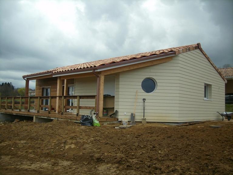 maison bois haute garonne,maison ossature bois haute garonne,bardage bois,bardage fibre de ciment,bardage composite,bardage