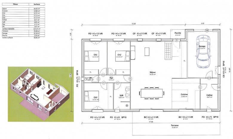 Plans et mod les de maison bois construction for Plan de construction maison
