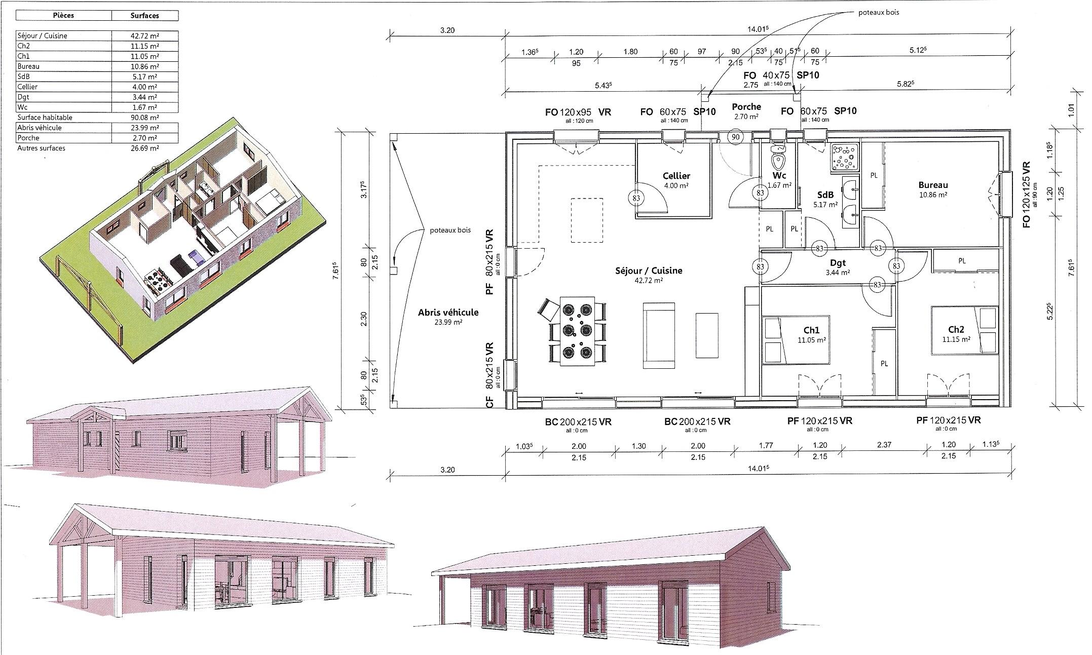 Constructeur maison bois haute garonne maison moderne for Constructeur maison individuelle haute garonne