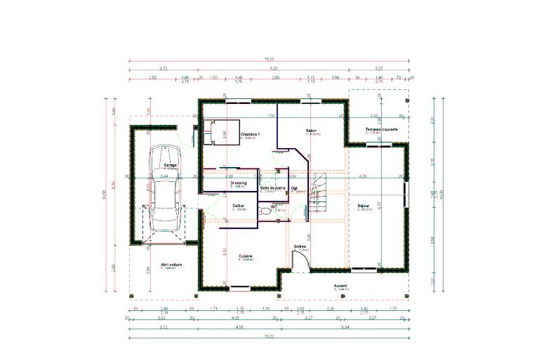 Plans et mod les de maison bois construction for Plan maison design