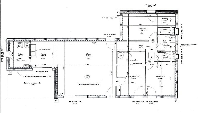 Plans et mod les de maison bois construction for Plan construction appentis bois