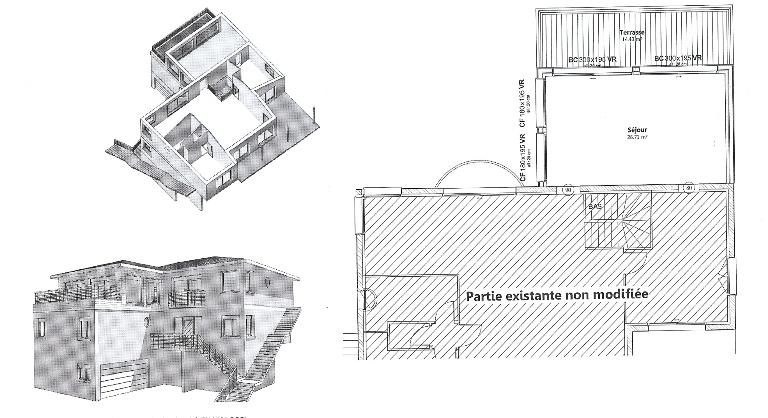 construction bois haute garonne,surelevation ossature bois,agrandissement ossature bois,agrandissement en bois,plan maison bois