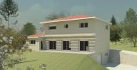 plan 3D maison ossature bois