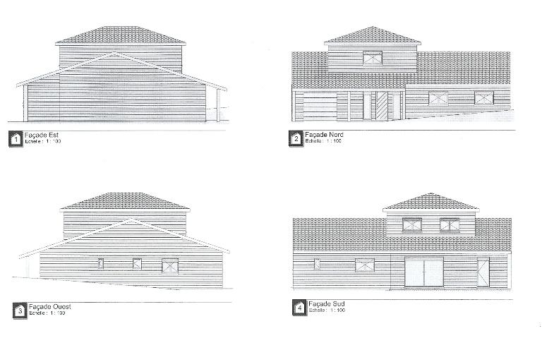 plan maison bois,plan maison ossature bois,plans maisons bois,plan maison en bois,plan face nord