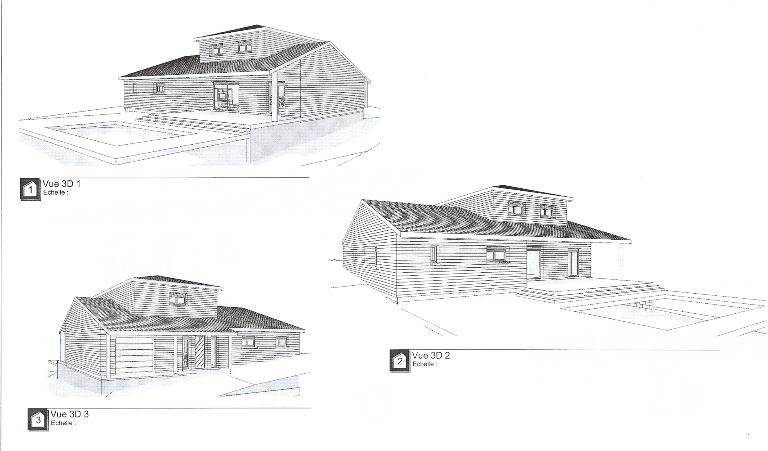 maison bois midi pyrenees-haute garonne-toulouse,plan maison bois,face nord maison bois,modele maison,face sud maison bois,face sud maison temoin