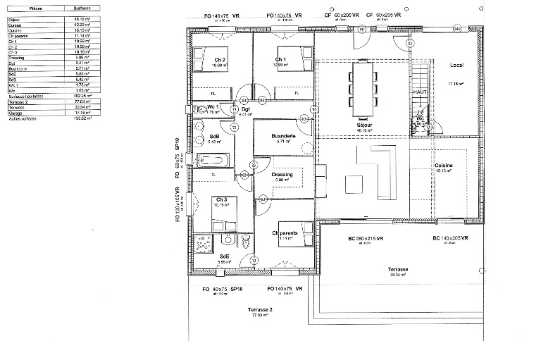 plan maison moderne ossature bois