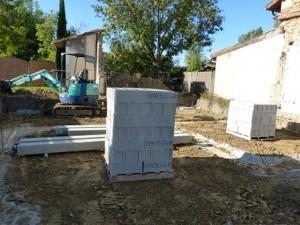 Les blocs béton nécessaire pour réaliser le vide sanitaire