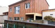 Maison bois vue du jardin